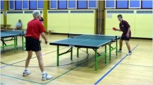 Unser Jugendspieler Tim gegen Senior Klaus