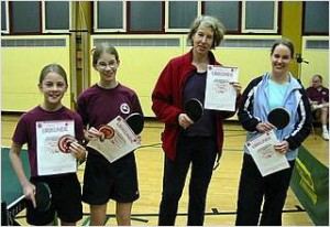 Julia, Susanne, Elisabeth, Anke von links